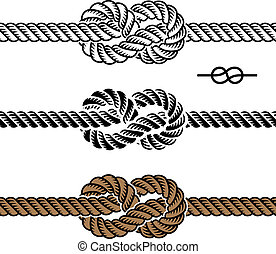 Vector, schwarze Seilknotensymbol