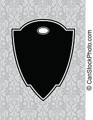 Vector, schwarzer spitzer Rahmen