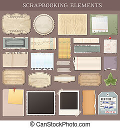 Vector Scrapbooking-Elemente.