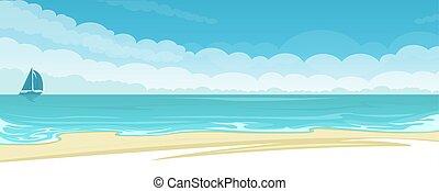 Vector Seescape Hintergrund