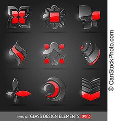 Vector Set - abstrakte Glasmusterelemente