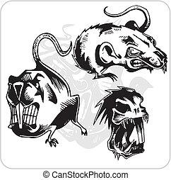 Vector Set - aggressive Ratte.