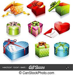 Vector Set: Geschenkeboxen