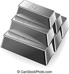 Vector Set Silberstäbe