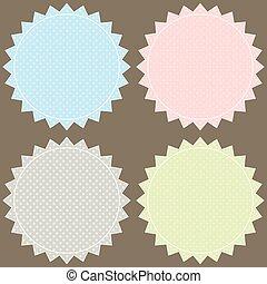 Vector setzt Pastell-Labels