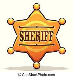 Vector Sheriff Markenfarbe Design.