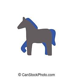 Vector Silhouette einer Pferde-Ikone.