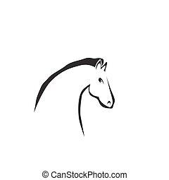 Vector Silhouette eines Pferdekopfes.