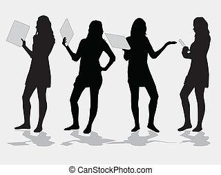 Vector Silhouette Mädchen.