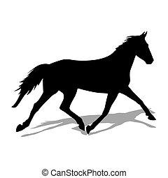 Vector Silhouette von Pferd.