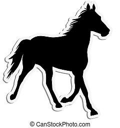 Vector Silhouette von Pferd