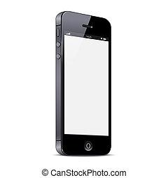 Vector Smartphone isoliert im weißen Hintergrund