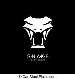 Vector Snake einfaches Logo Design Element.