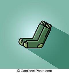 Vector Socken flaches Bild. Einfaches Vektor-Icon für Web