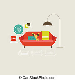 Vector Sofa Icons.