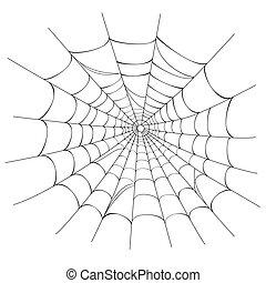Vector Spinnennetz auf weiß