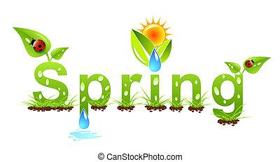 Vector Spring Wortkonzept