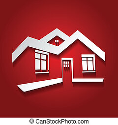 Vector Symbol des Hauses, Haus Ikone, Immobilien Silhouette, modernes Logo.