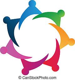 Vector Teamwork Menschen Logo.