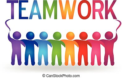 Vector Teamwork Partner Menschen Logo.