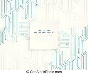 Vector Technologie blauer Schaltkreis Hintergrund.
