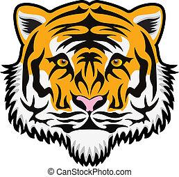 Vector Tigergesicht.