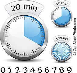 Vector Timer - die Zeit wechselt jede Minute