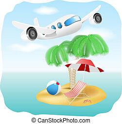 Vector Urlaub Illustration