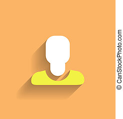 Vector User Icon Modern Flat Design