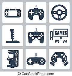 Vector Videospiele Icons Set