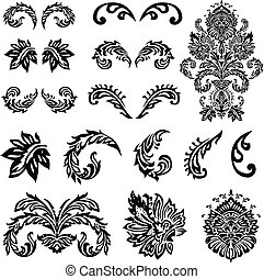 Vector Viktorianische Ornamente