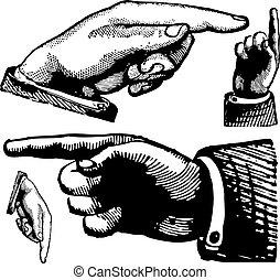 Vector Vintage mit Fingern