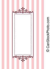 Vector Vintage, rosa Streifen