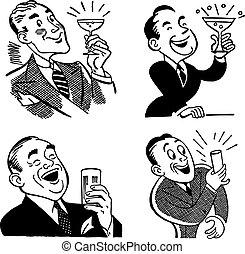 Vector Vintage Trinkgrafiken