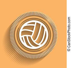 Vector Volleyball-Icon flacher moderner Entwurf