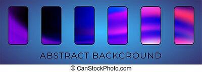 Vector wavy abstrakte Smartphone Illustration Set
