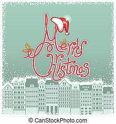 Vector-Weihnachtskarte mit Hintergrund für SMS