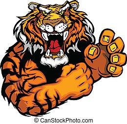 Vectors Bild eines Tigermaskottchens