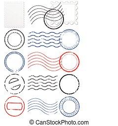 Vectors Set von Postmarken & Marken.