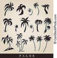 Vectors Silhouette aus Palmen