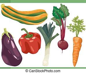 Vegetables Zeichentrickfilm veranschaulicht.