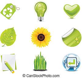 Vektor-Ökologie-Icon-Set. P.4
