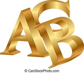 Vektor 3d Icon of ABC