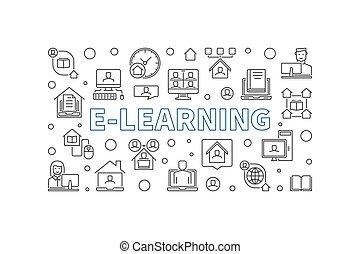 vektor, abbildung, begriff, horizontal, grobdarstellung, e-lernen