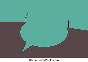 vektor, abbildung, blasen, talk, begriff, vortrag halten