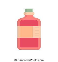 vektor, abbildung, ikone, flasche, medizinprodukt