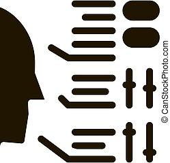 vektor, abbildung, menschliche , ikone, glyph, eigenschaften