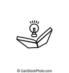 vektor, abbildung, schablone, idee, design, buch, ikone