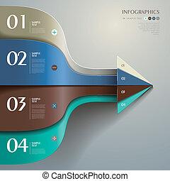 Vektor abstrakte 3d Papier-Infographics