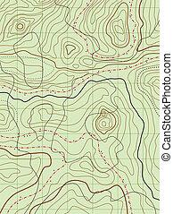 Vektor abstrakte topografische Karte ohne Namen